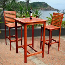 wood patio sets are stunning even in frigid months