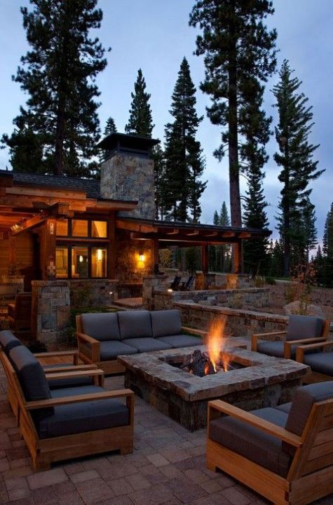 patio furniture design trends 2019 outdoor patio fire stone focal point