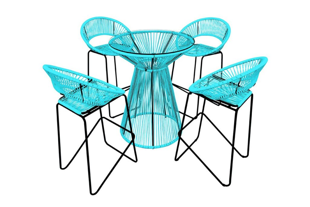 5 piece acapulco bar set small backyard patio furniture