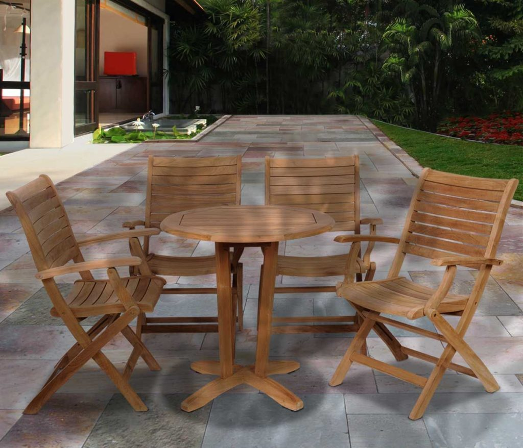 aruba folding wooden patio furniture small space