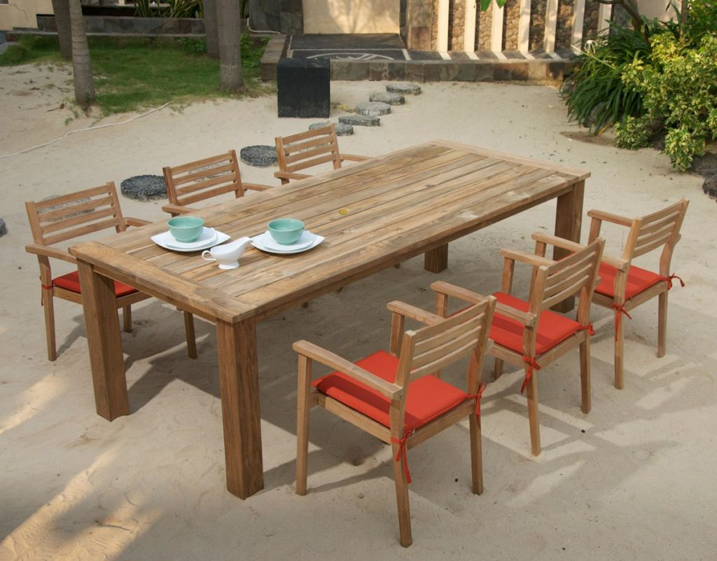 Classic reclaimed teak dining set di1