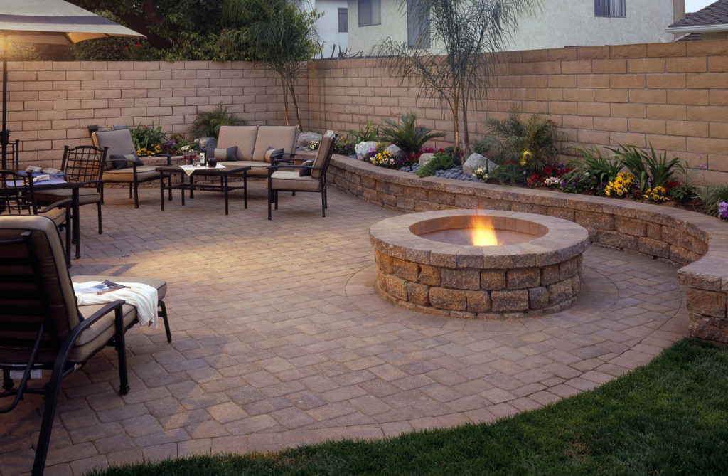 hardscape patio small backyard low maintenance space saving