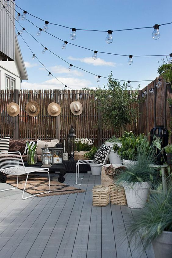 patio furniture design trends 2019 string lights above patio