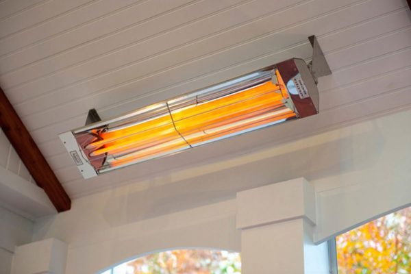 Indoor and outdoor wall mounted electric patio heater