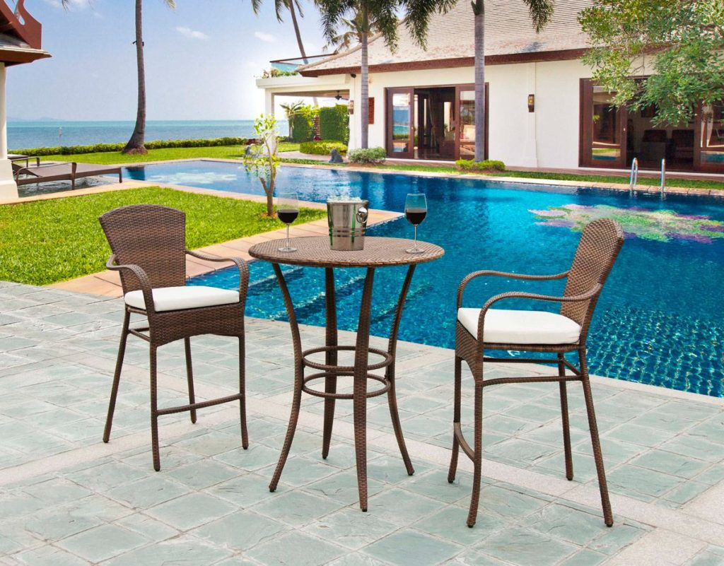 key biscayne 3 piece bar set small backyard furniture