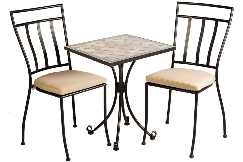 recco 3 piece bistro set wrought iron patio furniture
