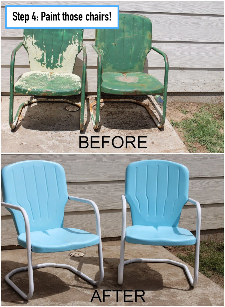 step 4 paint the chairs