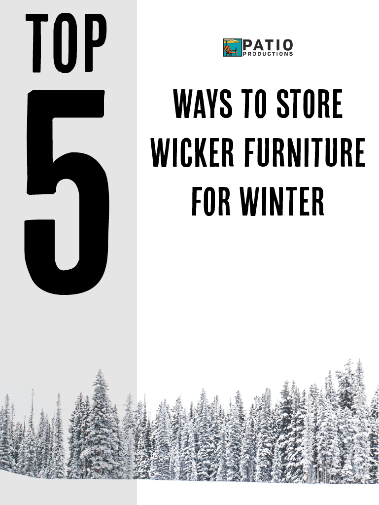How To Properly Store Wicker Furniture In The Winter