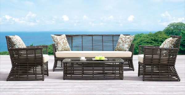 Sunset West Venice Sofa Set Outdoor Deck