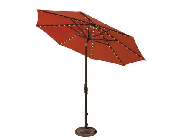 The 9u0027 Octagon Collar Tilt Light Up Umbrella Is A Great Choice For Anyone  With Plans For Some Late Night Entertainment. The LED Lights Are Embedded  In The ...