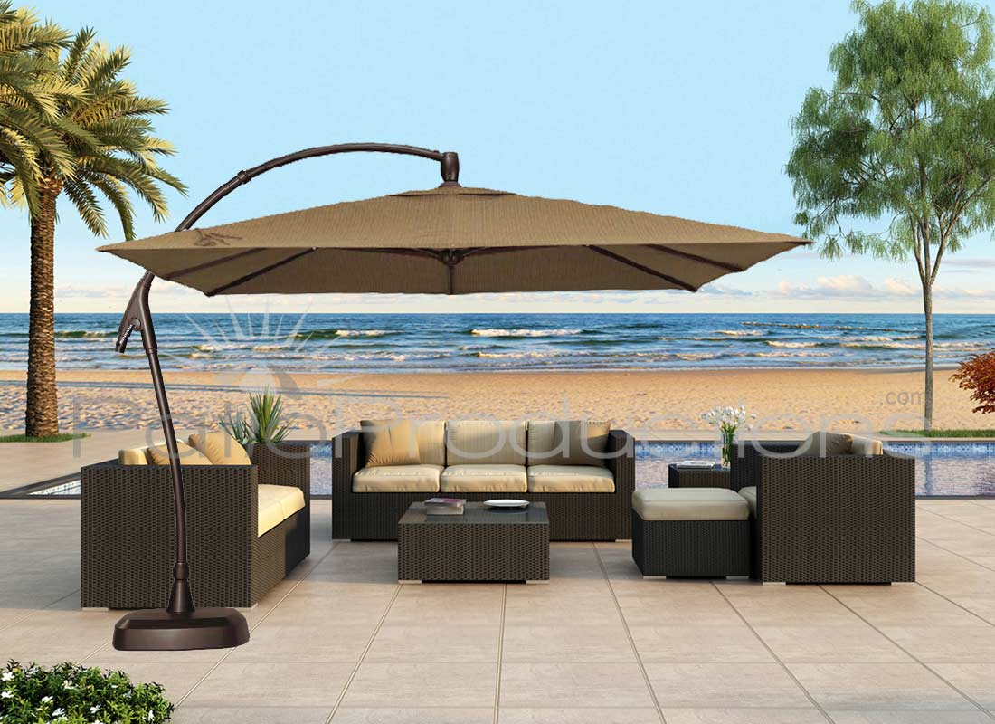 Treasure Gardens 10 ft Square Cantilever Umbrella