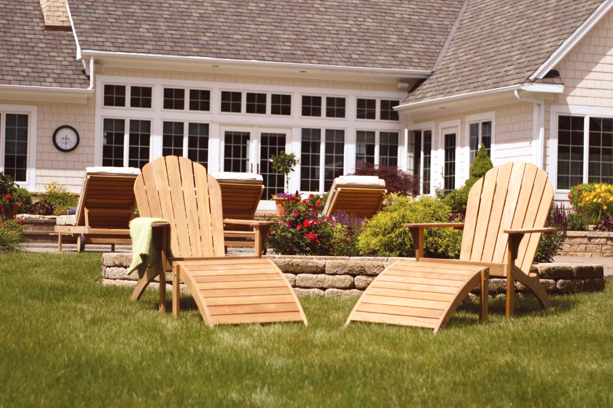 2 Piece Teak Adirondack Chair Set by Three Birds Casual