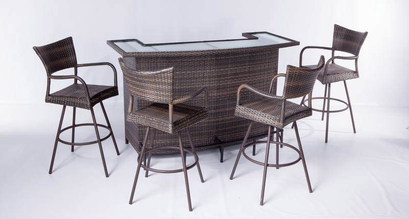 Elegant 5 Piece Alohi Bar Set From Alfresco Home.