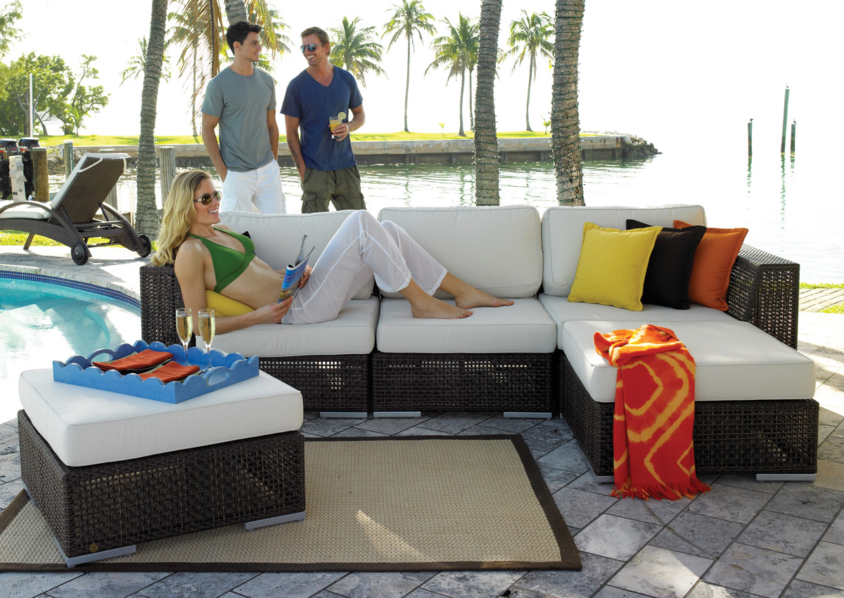 6 Pc. Picasso Outdoor Sectional Sofa Set from Hospitality Furniture