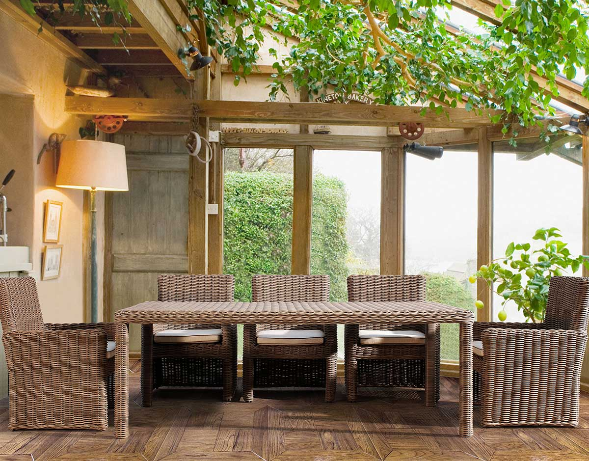 Coronado Wicker Dining Set from Sunset West