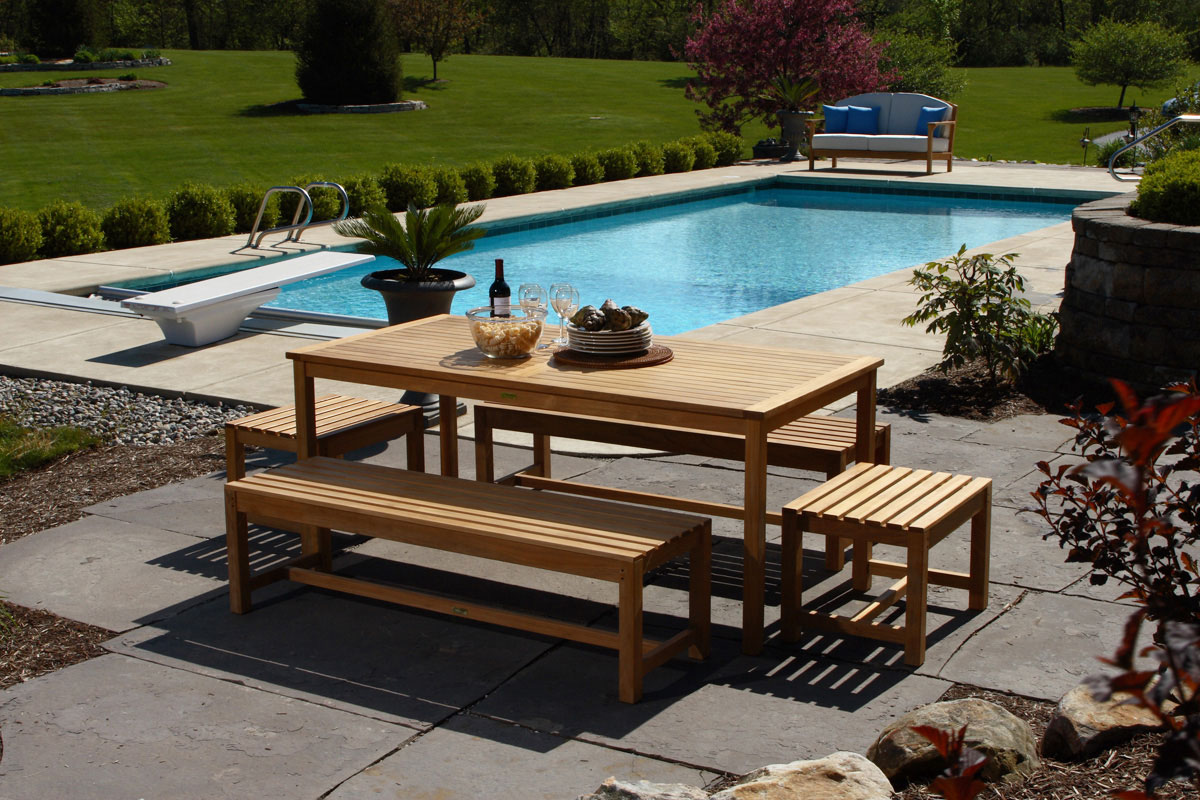 brunswick teak outdoor dining set. how to choose the best material for outdoor furniture