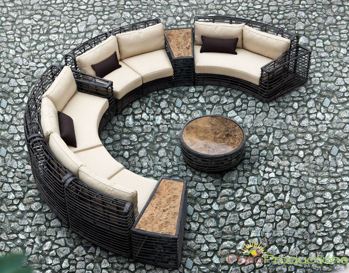 9 Pc. Tortuga Wicker Set from Azzuro Living