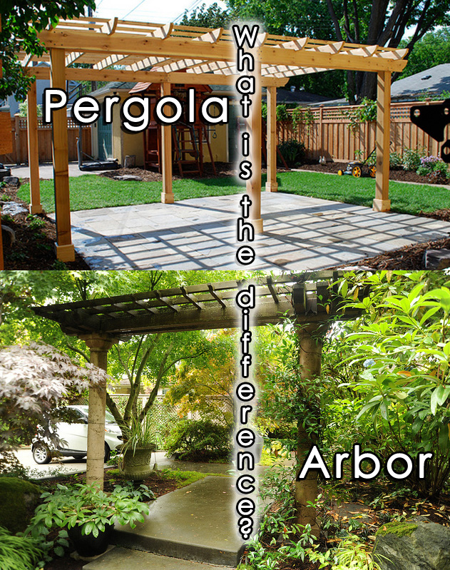 What 39 s the difference between a pergola and an arbor for Whats a terrace