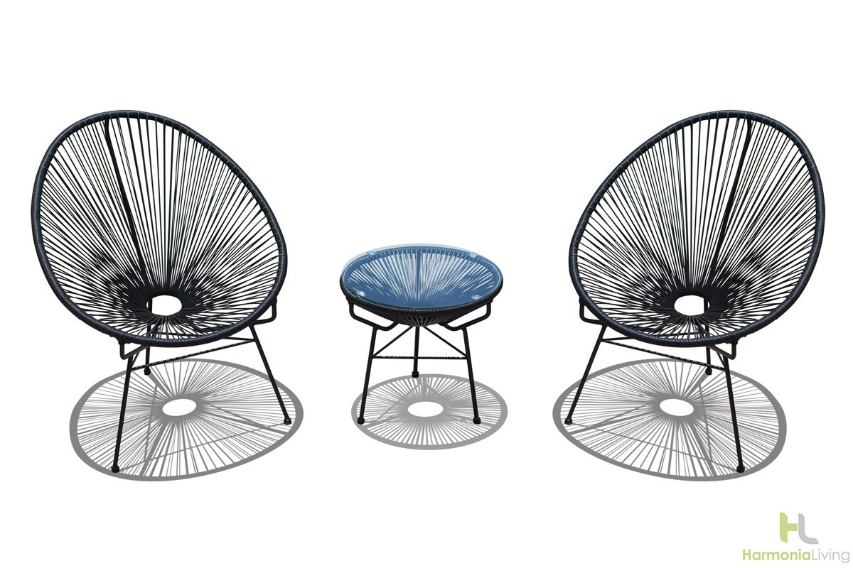 acapulco chair chat set mid century modern outdoor patio furniture harmonia living