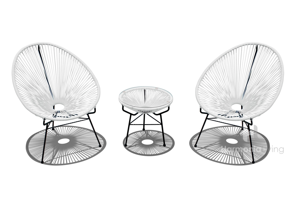 outdoor furniture small balcony. Acapulco Chat Set Outdoor Furniture Small Balcony
