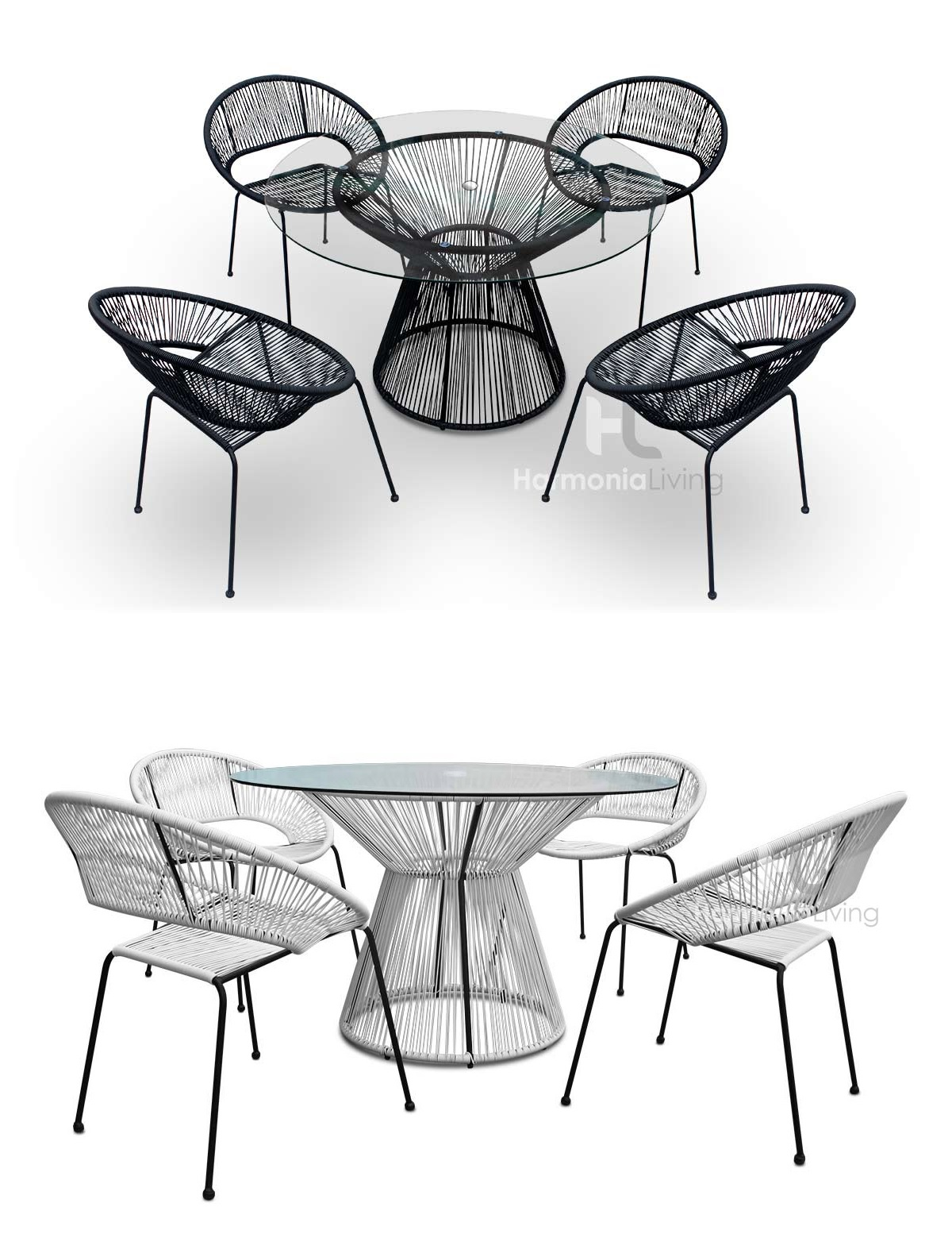 Our Acapulco dining set is a great way to relax outdoors