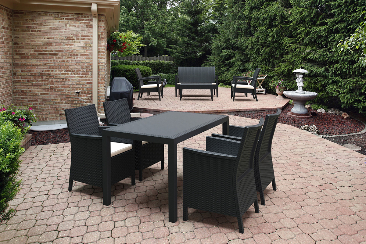 California 5 Piece Outdoor Dining Set Compamia Modern Design Patio Furniture Style High Quality Affordable Stylish