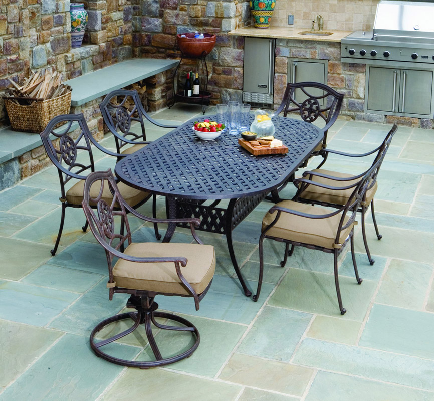 The Aluminum Bottego Outdoor Dining Set. Modern Cast Aluminum Furniture ... Part 39