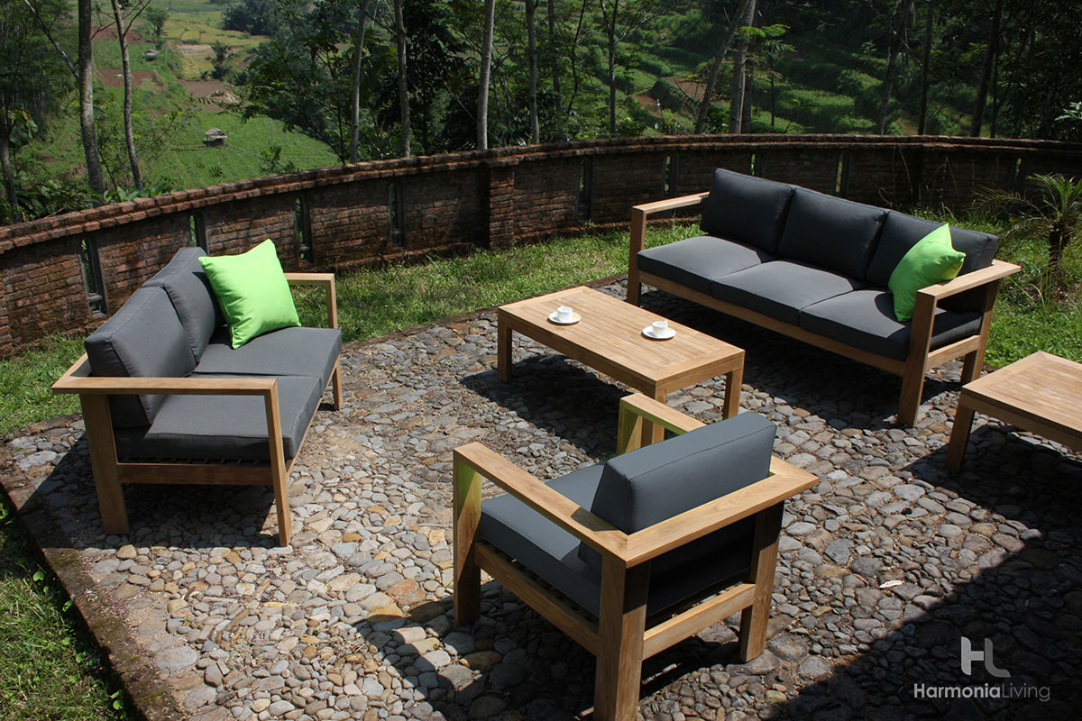 The Ando Teak Outdoor Furniture Set From Patio Productions