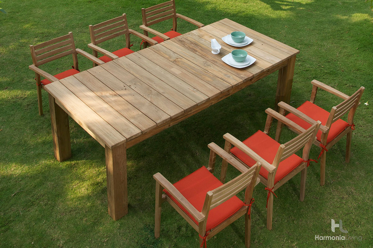 Announcing Our Newest Outdoor Teak Furniture Collections Patio The Arden Teak  Patio Dining Set Makes Quite  Teak Patio Dining Set