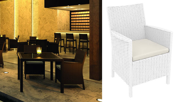 California Outdoor Wicker Dining Set by Compamia