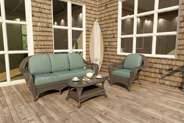 Catalina Deep Seating Wicker Sofa Set