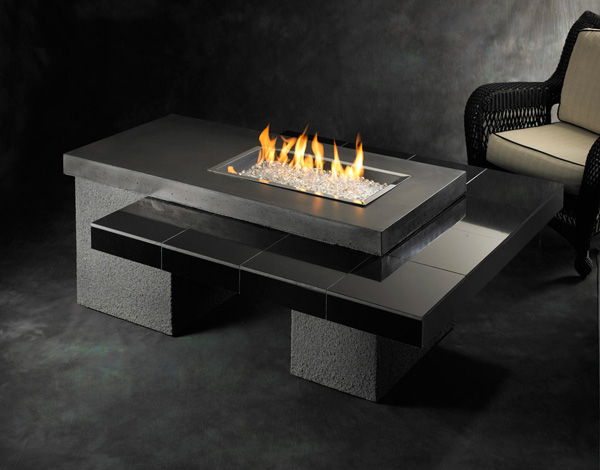 Uptown Chic Outdoor Fire Pit Table