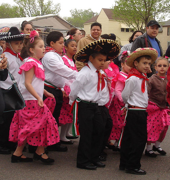 A Cinco de Mayo fiesta in Saint Paul, Minnesota