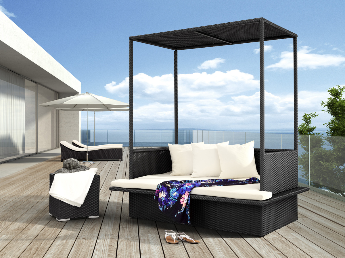 Colma Outdoor Daybed by Zuo Modern.