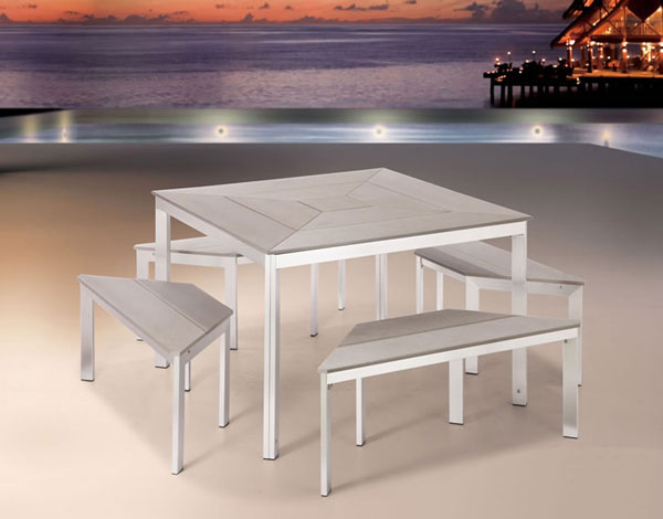 Contemporary Outdoor Dining Set