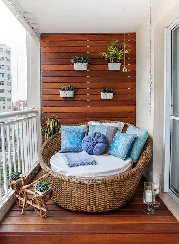 Covered Balcony With Daybed