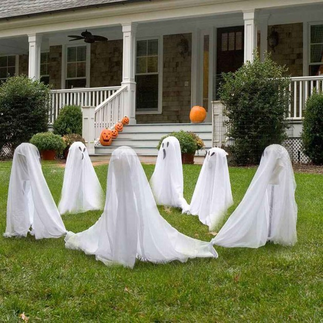 5 spooky last minute diy decorations to give your patio some spirit - Diy halloween ghost decorations ...