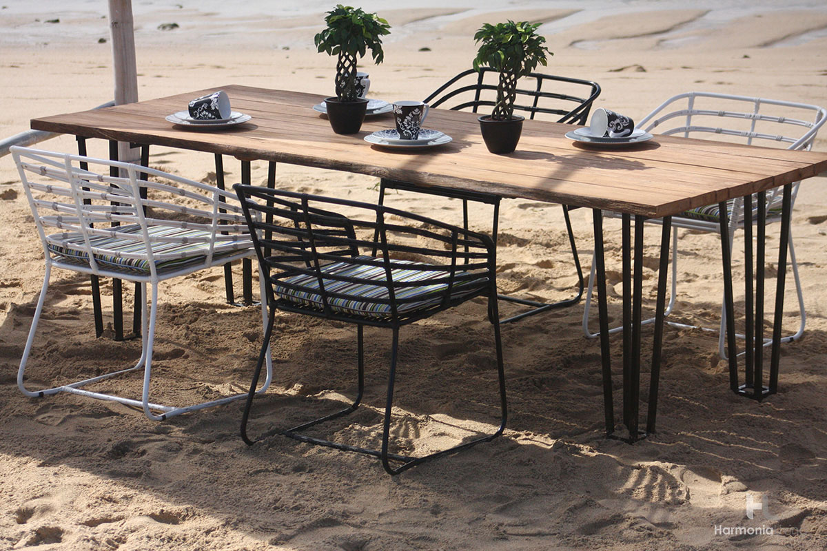 The Exo Teak Outdoor Dining Set From Patio Productions   Announcing Our  Newest Outdoor Teak Furniture