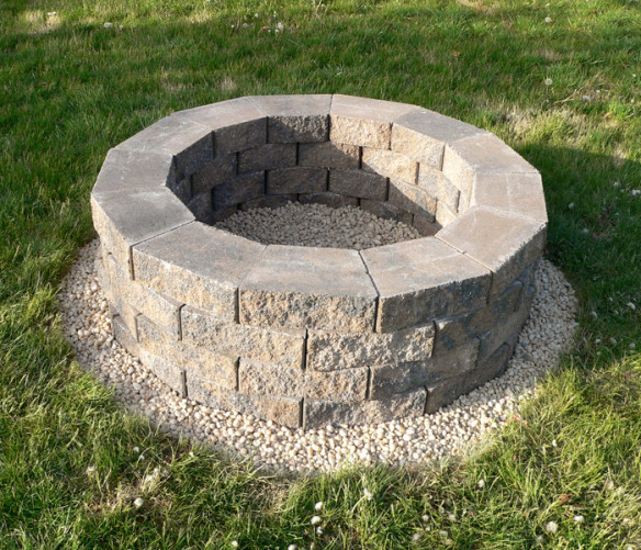 Fun ideas for sustainable gardening patio productions for Diy patio fire pit
