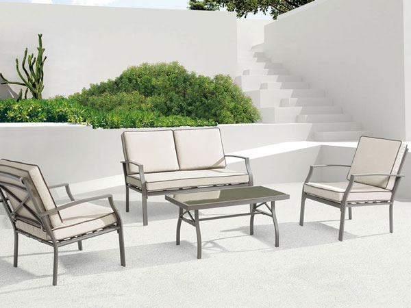 Grand Beach Aluminum Patio Furniture Set