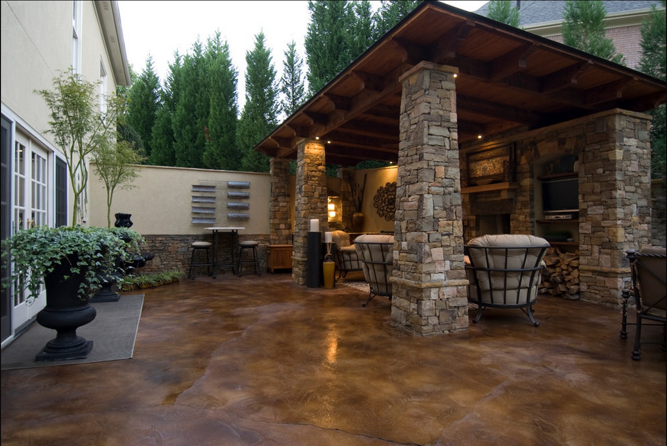 Stained Concrete Patio Designs
