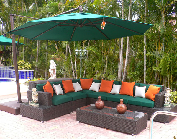 Hudson Wicker Sectional Set made by Source Outdoor