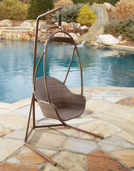 Island Cove Wicker Hanging Chair