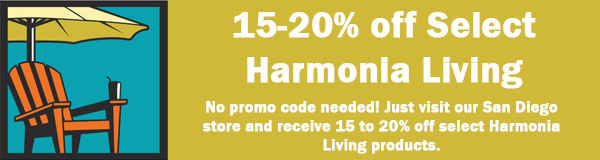 Save 15 to 20 percent off ALL Harmonia Living patio furniture Labor Day Sale and Discount 2019