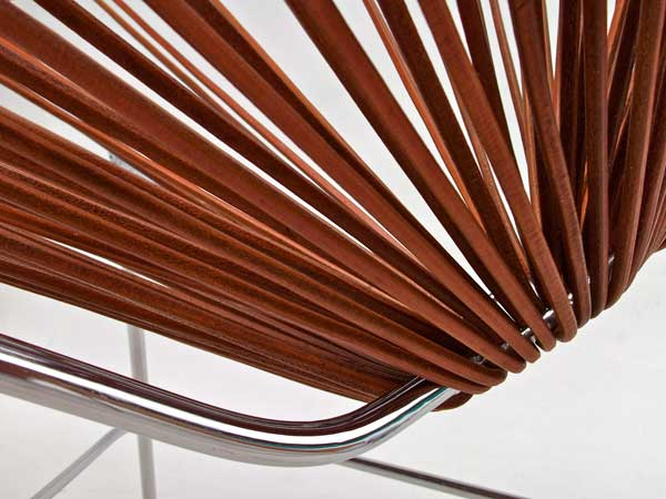 Superieur Leather Acapulco Chair Close Up By Ocho Workshop
