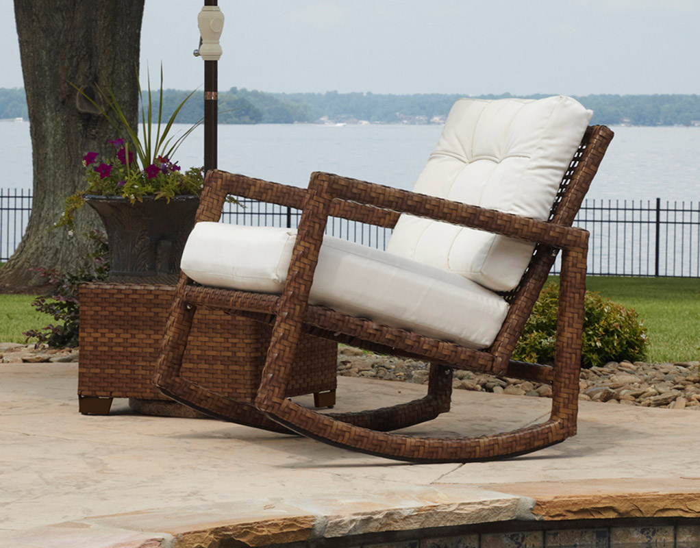 Captivating Lupine Wicker Rocker From Hospitality Rattan