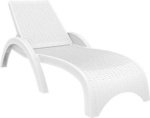 Miami Resin Wickerlook Chaise Lounge