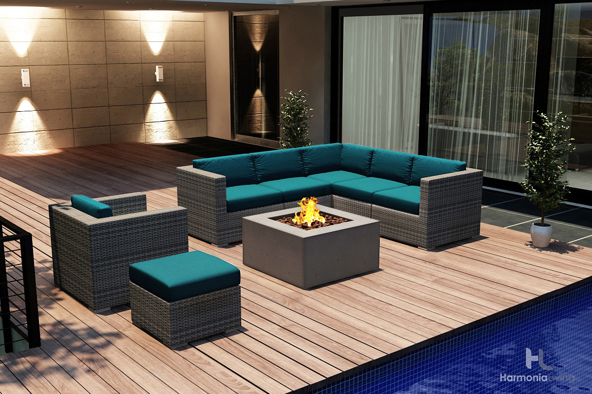 urbana outdoor patio furniture modern wicker synthetic style design video tour home