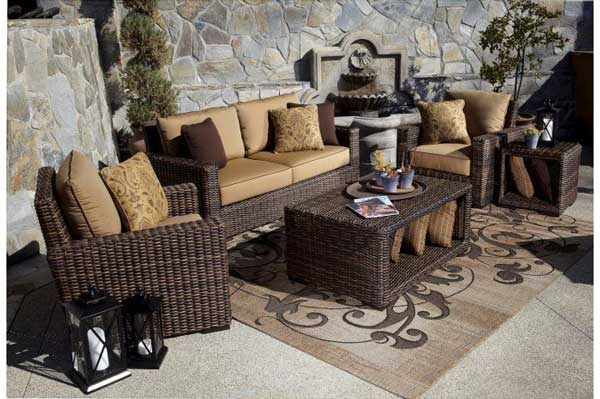 Montecito Deep Seating Wicker Patio Set
