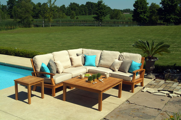 Monterey Teak Outdoor Sofa Set